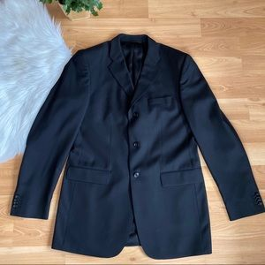 Banana Republic men's black modern wool jacket
